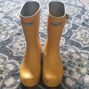 Yellow Short Hunter Boots